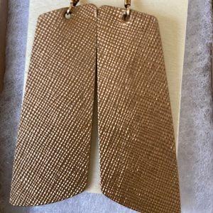 Nickel & Suede earrings. Leather.